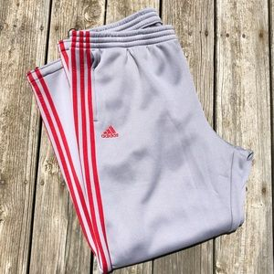 🆕List! Men's Adidas Gray/Red Athletic Pants! NEW!